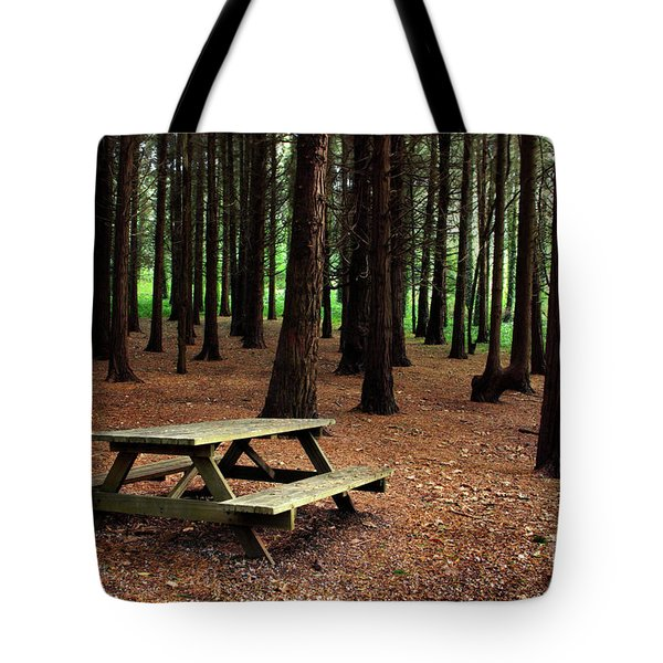 Picnic Table Tote Bag by Carlos Caetano