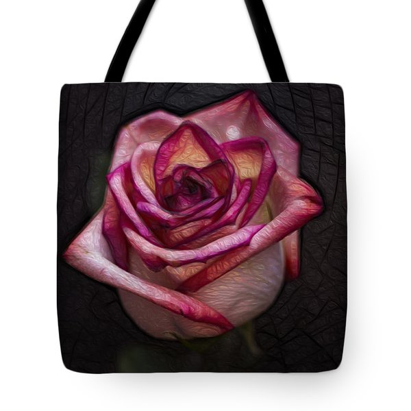 Picturesque Satin Rose Tote Bag by Linda Tiepelman