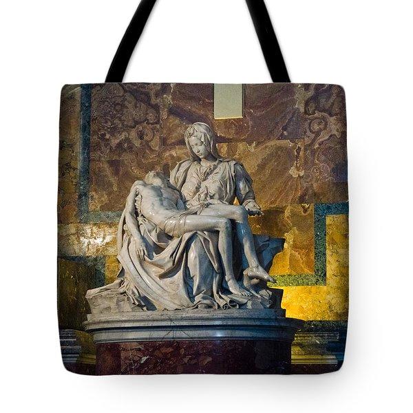 Pieta By Michelangelo Circa 1499 Ad Tote Bag by Jon Berghoff