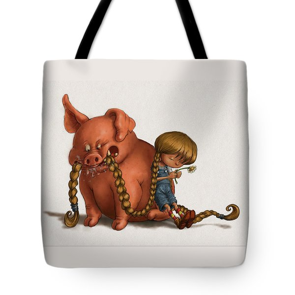 Pig Tales Chomp Tote Bag by Andy Catling