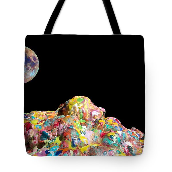 PILE OF COLOR IN SPACE TWO K O FOUR Tote Bag by Carl Deaville