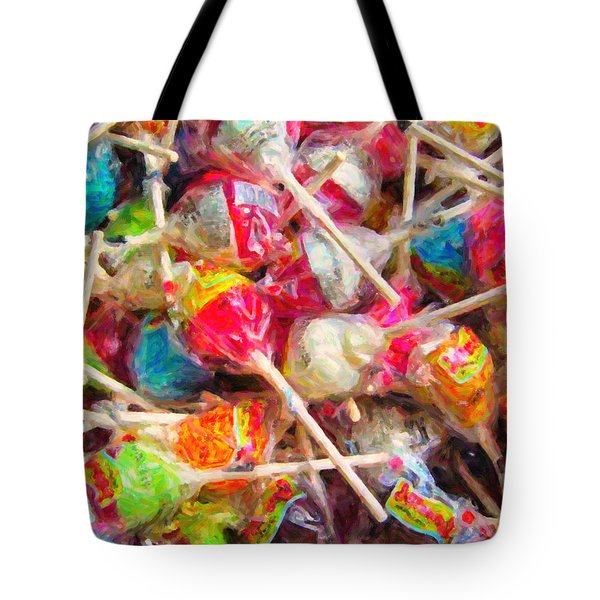Pile of Lollipops - Painterly Tote Bag by Wingsdomain Art and Photography