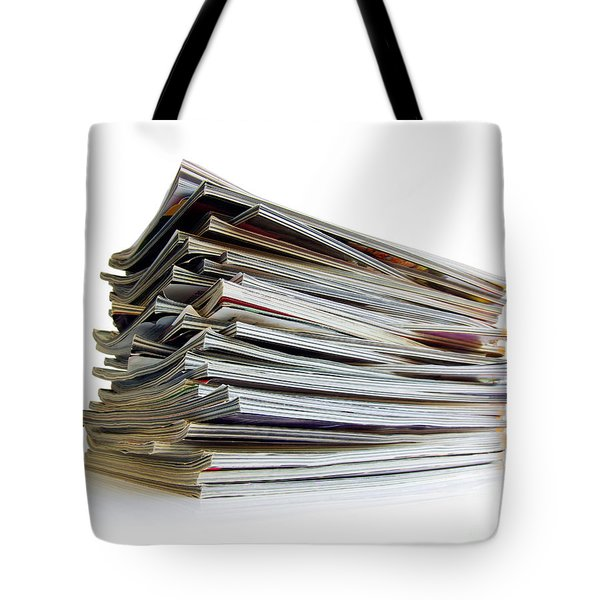 Pile Of Magazines Tote Bag by Carlos Caetano