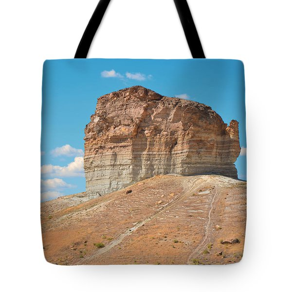 Pilot Butte Rock Formation II Tote Bag by Donna Greene