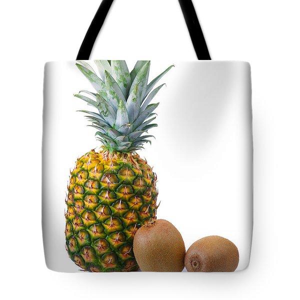 Pineapple and Kiwis Tote Bag by Carlos Caetano