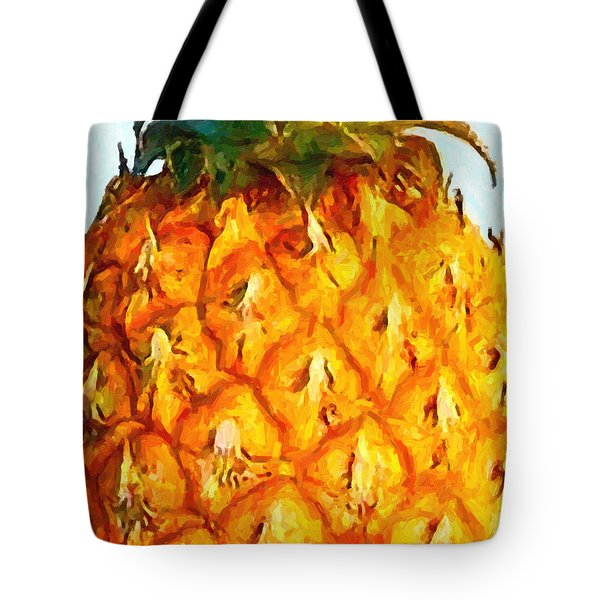 Pineapple Tote Bag by Wingsdomain Art and Photography