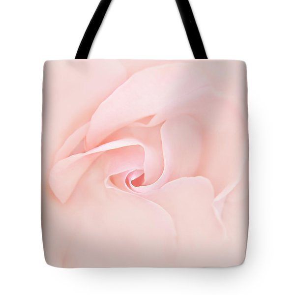 Pink Abstract Rose Flower Tote Bag by Jennie Marie Schell