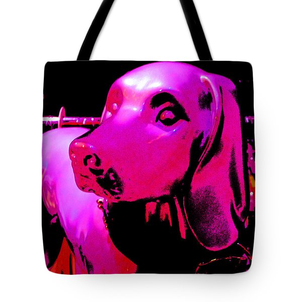 Pink And Purple Pooch Tote Bag by Kym Backland