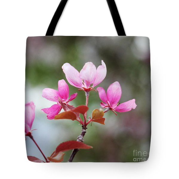 Pink Apple Blossom 2 Tote Bag by Donna Munro
