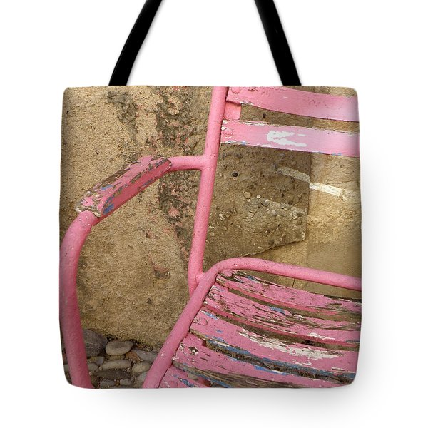 Pink Chair Tote Bag by Lainie Wrightson