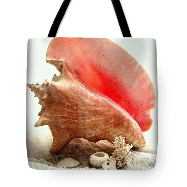 Pink Cong Shell Tote Bag by Danielle  Parent