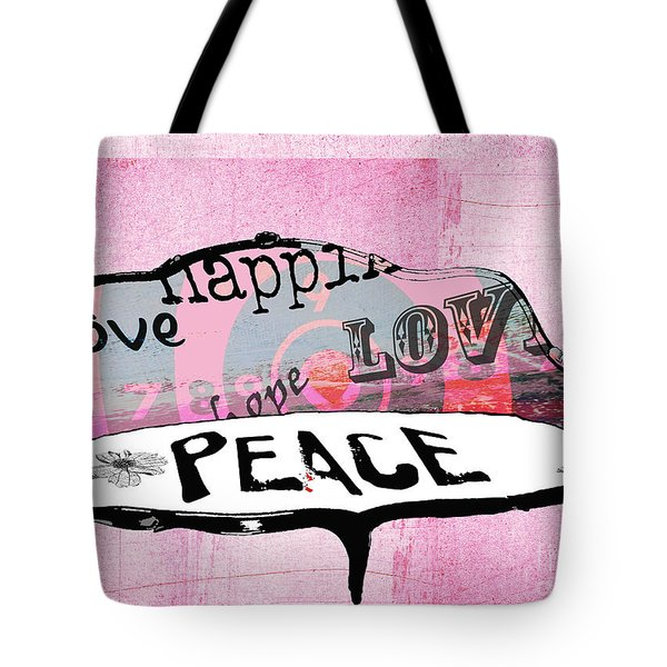 Pink Love Chair Tote Bag by Anahi DeCanio