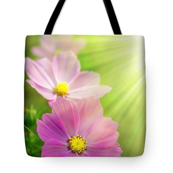 Pink Spring Tote Bag by Carlos Caetano