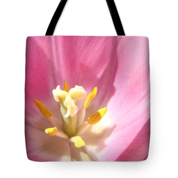Pink Tulip Flower prints Spring Tulips Floral Tote Bag by Baslee Troutman