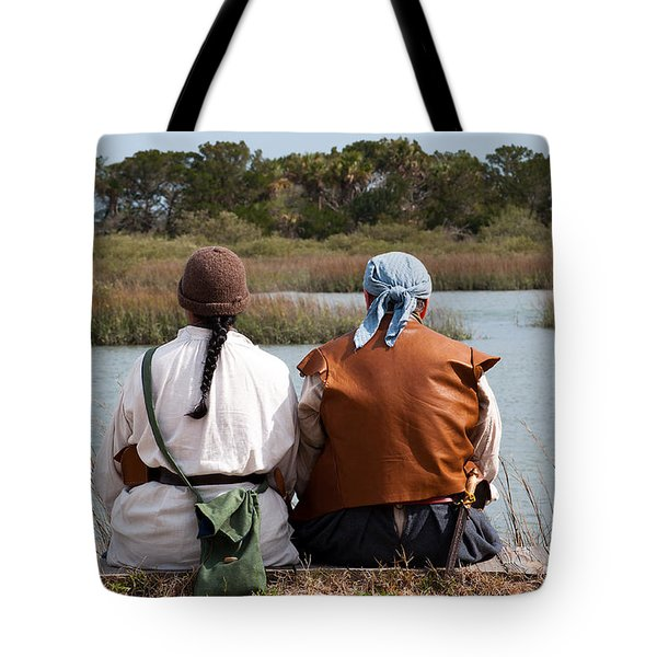 Pirate Couple Tote Bag by Kenneth Albin