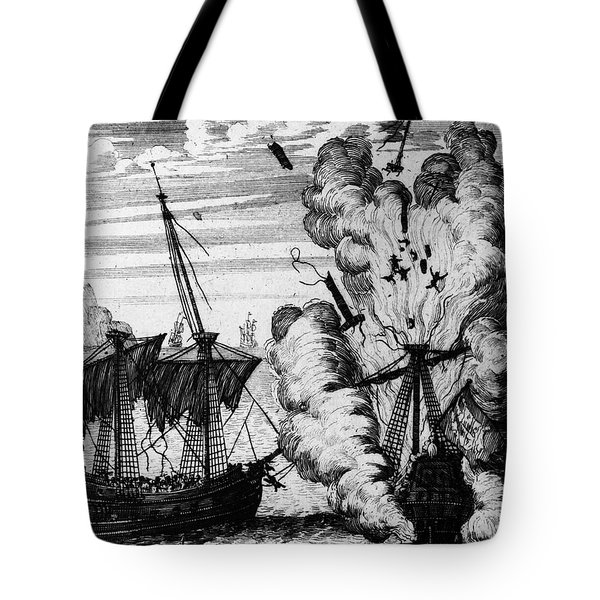 Pirate Ships Tote Bag by Granger