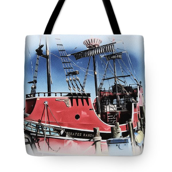 Pirates Ransom - Clearwater Florida Tote Bag by Bill Cannon