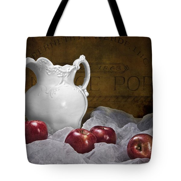 Pitcher With Apples Still Life Tote Bag by Tom Mc Nemar