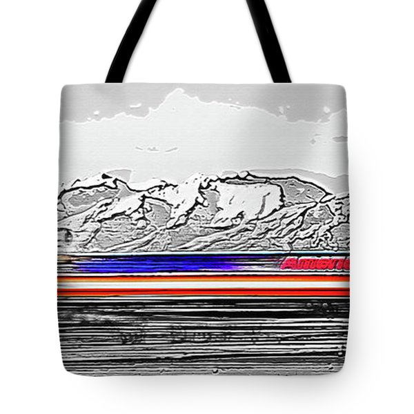 Plane at Airport 1 Tote Bag by Steve Ohlsen