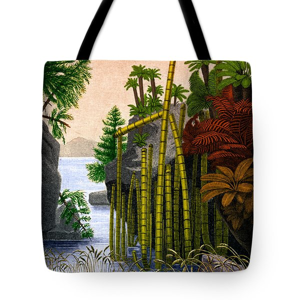 Plants Of The Triassic Period Tote Bag by Science Source