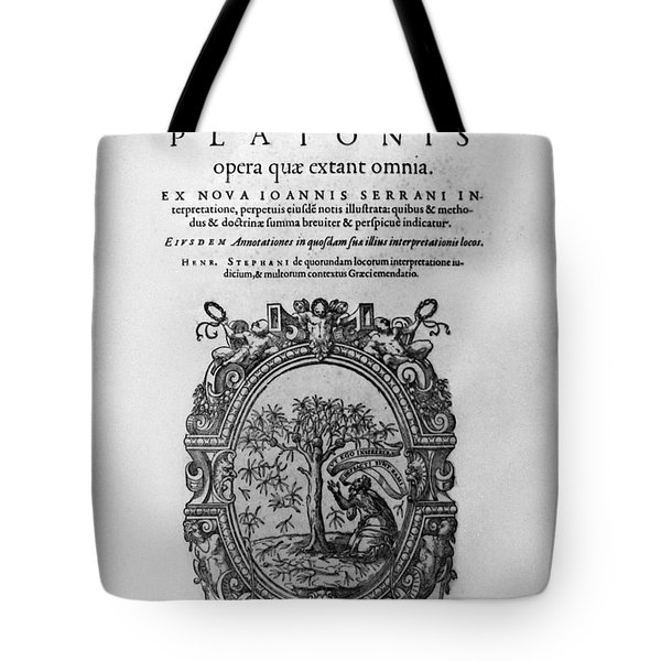 Plato: Title Page Tote Bag by Granger