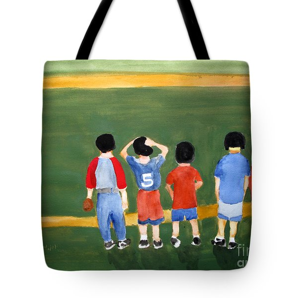 Play Ball Tote Bag by Sandy McIntire