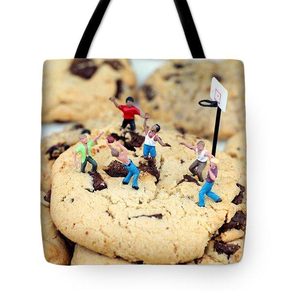Playing Basketball On Cookies II Tote Bag by Paul Ge