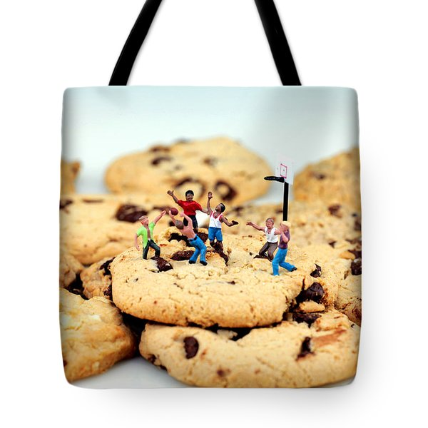Playing basketball on cookies Tote Bag by Paul Ge