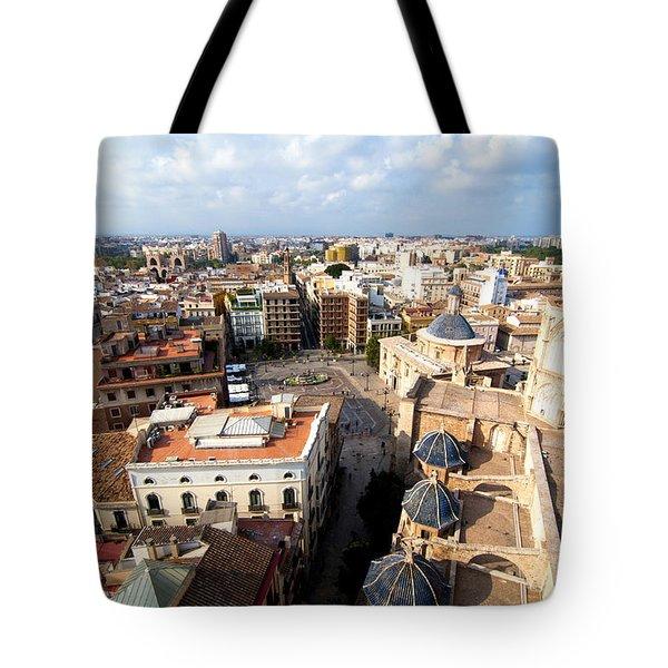 Plaza de la Virgen Tote Bag by Fabrizio Troiani