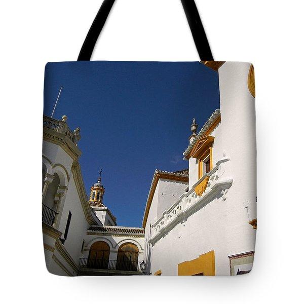Plaza De Toros De La Real Maestranza - Seville Tote Bag by Juergen Weiss