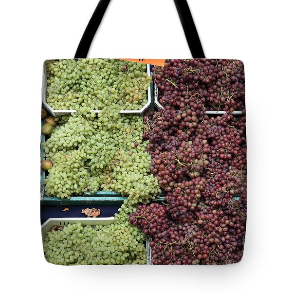Pluots Grapes and Tomatoes - 5D17903 Tote Bag by Wingsdomain Art and Photography
