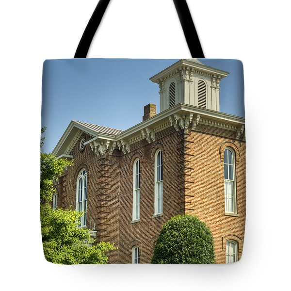 Pocahontas Arkansas Courthouse Tote Bag by Douglas Barnett