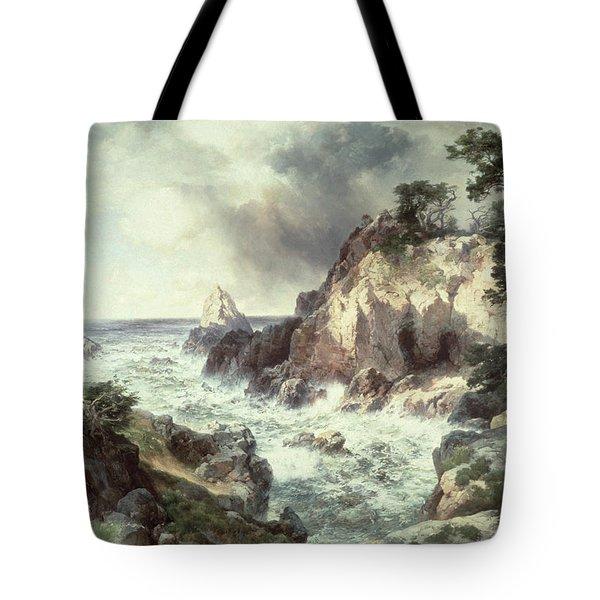 Point Lobos At Monterey In California Tote Bag by Thomas Moran