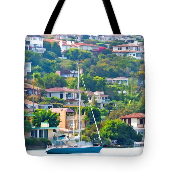 Point Loma Harbor Side Tote Bag by L J Oakes