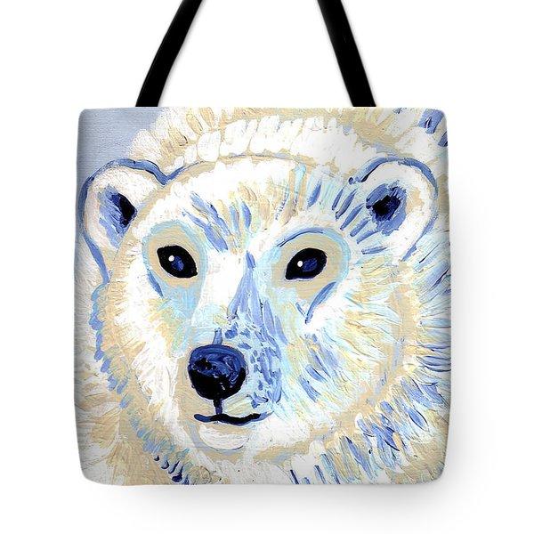 Polar Bear Tote Bag by Genevieve Esson