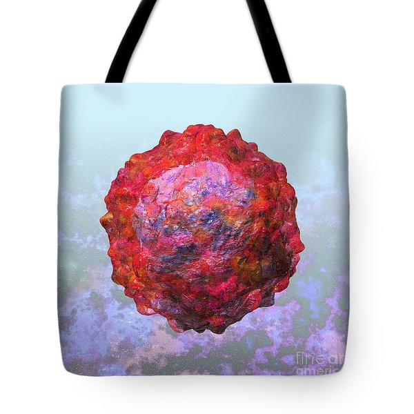 Polio virus particle or virion poliovirus 2 Tote Bag by Russell Kightley