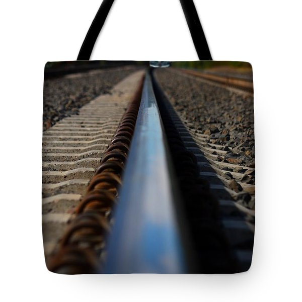 Polished Rails Tote Bag by Patrick Witz