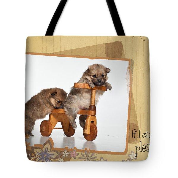 Pomeranian 1 Tote Bag by Everet Regal