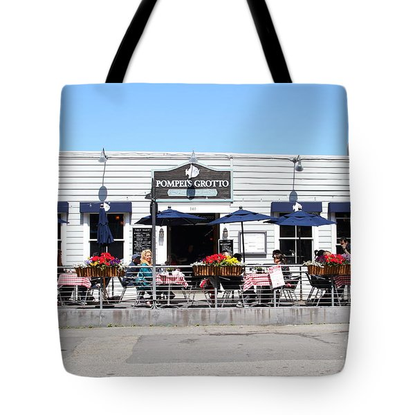 Pompeis Grotto Restaurant . Fishermans Wharf . San Francisco California . 7d14197 Tote Bag by Wingsdomain Art and Photography
