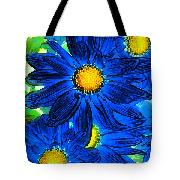 Pop Art Daisies 15 Tote Bag by Amy Vangsgard