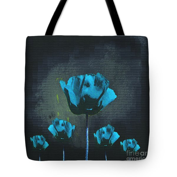 Poppies Fun 01 - Bb Tote Bag by Variance Collections