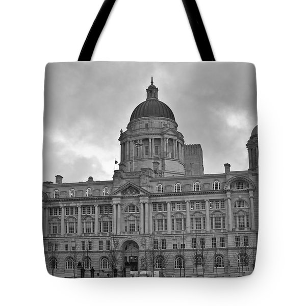 Port Of Liverpool Building Tote Bag by Georgia Fowler