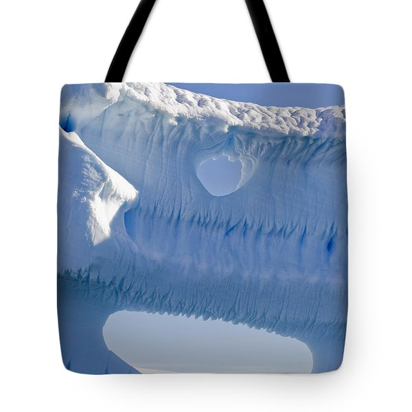 Portion Of A Gigantic Iceberg Tote Bag by Ron Watts