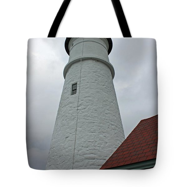 Portland Lighthouse Tote Bag by Suzanne Gaff