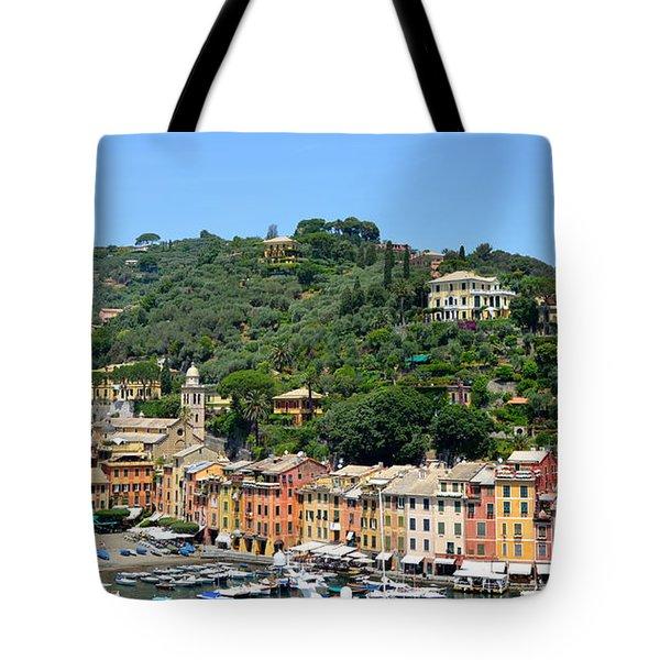 Portofino Hillside Tote Bag by Corinne Rhode