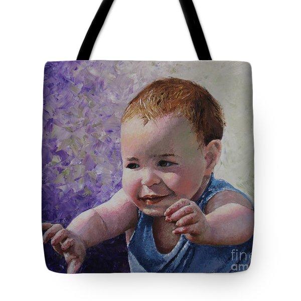 Portrait Of A Boy - Catch Me Tote Bag by Tatjana Popovska