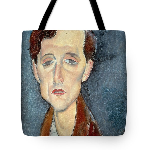 Portrait Of Franz Hellens Tote Bag by Modigliani