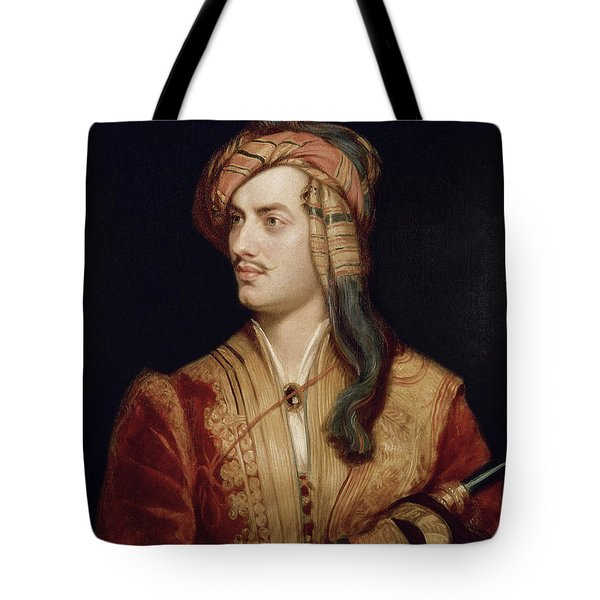 Portrait Of George Gordon Tote Bag by Thomas Phillips