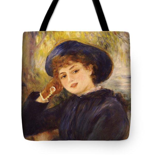 Portrait Of Mademoiselle Demarsy Tote Bag by Pierre Auguste Renoir