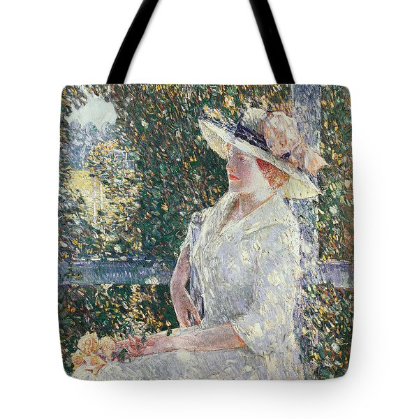 Portrait Of Miss Weir Tote Bag by Childe Hassam